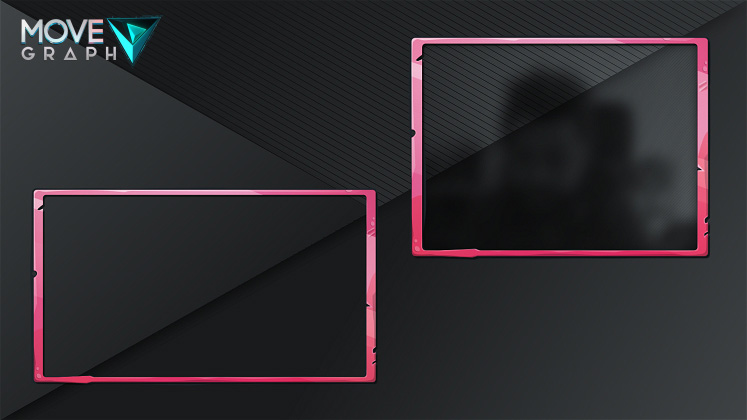 pink cartoon stream overlay