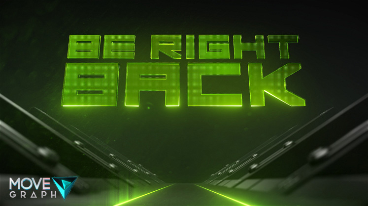 green twitch animated brb screen