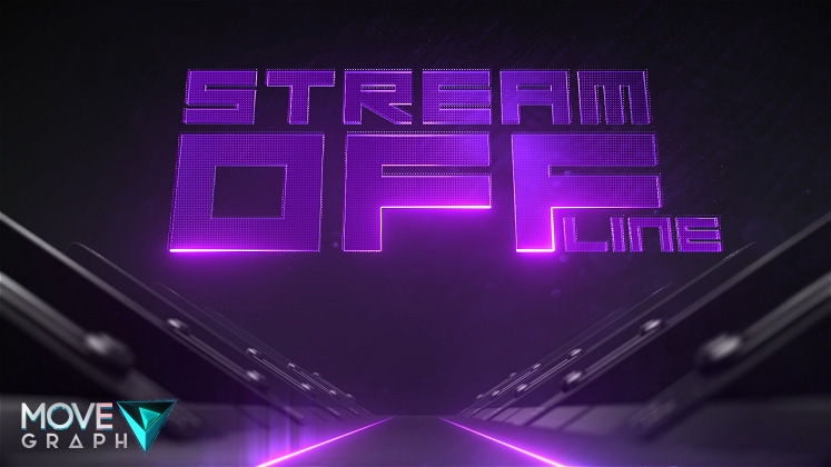 purple twitch animated offline screen
