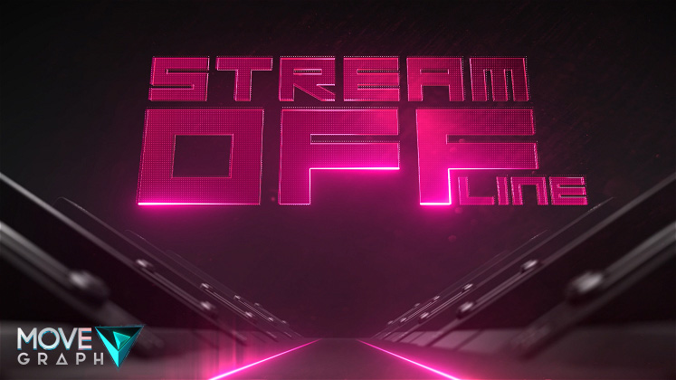 Pink Twitch Offline Screen