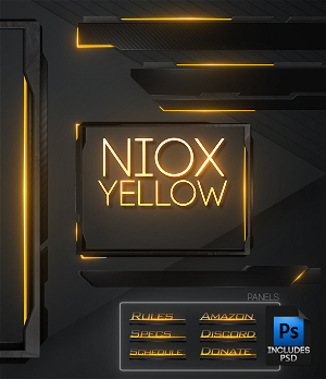 yellow twitch overlay