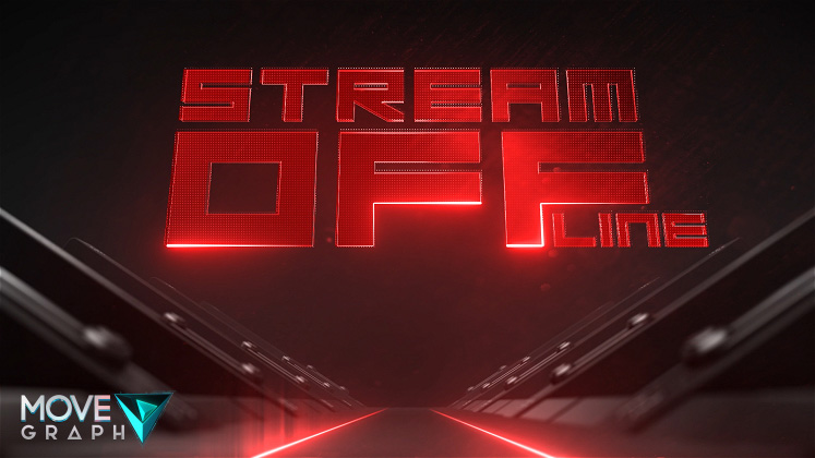 red twitch animated offline screen