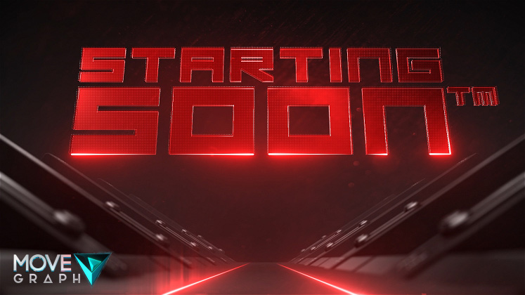 red twitch animated starting screen