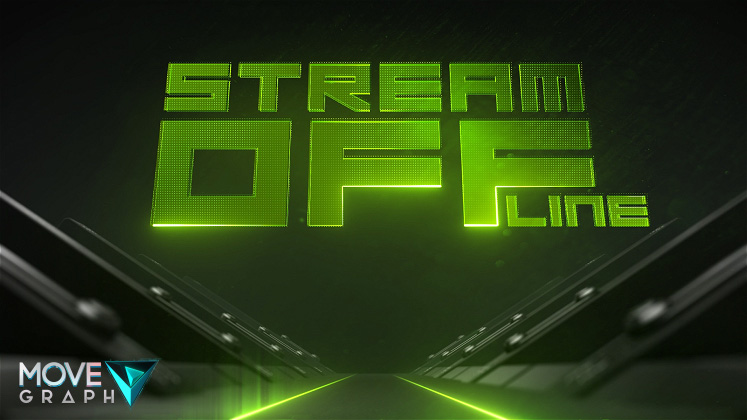 green twitch animated offline screen