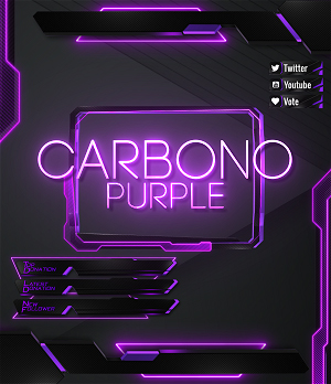 purple twitch overlay pack