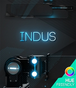 Modern and mechanical lower third to customise with your own color. Hue friendly