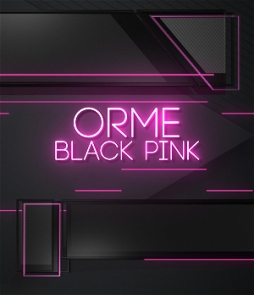 modern lower third on pink color