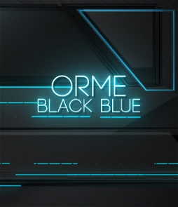 modern lower third on blue color