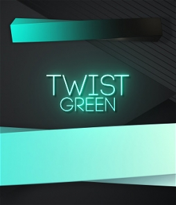 Twist and clean lower third free download on green color