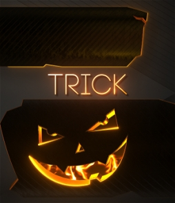 halloween, pumpkin, face, smile, lower third