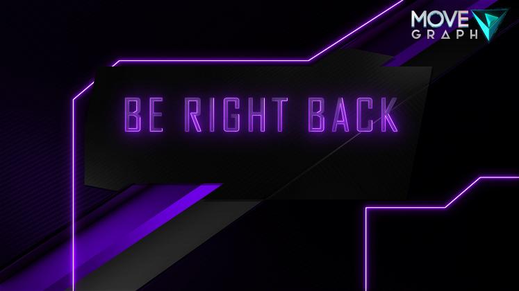 purple twitch brb screen