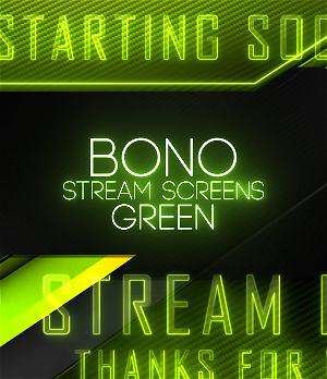 Green animated Twitch screens