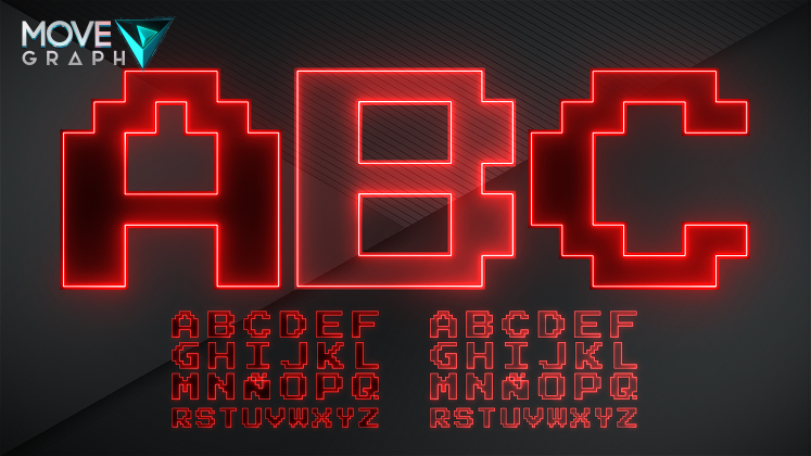 pixelate letters png