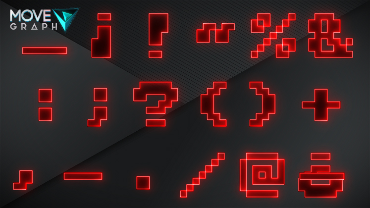 pixelate alphabet