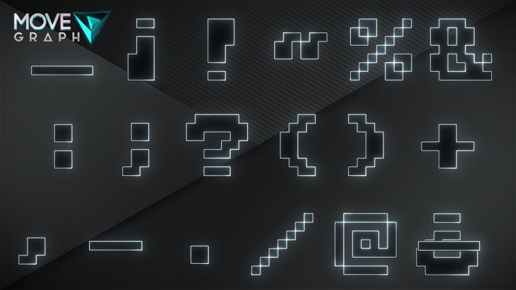 white symbols