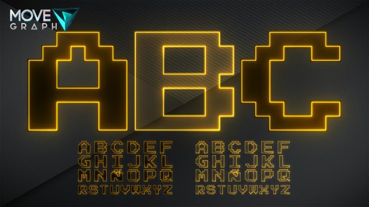 yellow alphabet