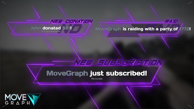 purple animated alerts
