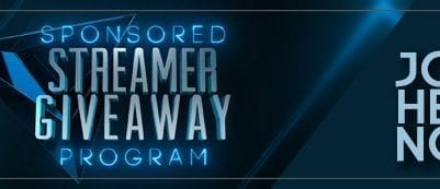 sponsored giveaway streamers