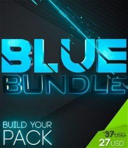 stream graphics blue