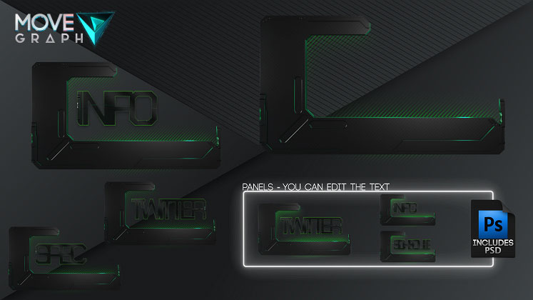 twitch overlay panels