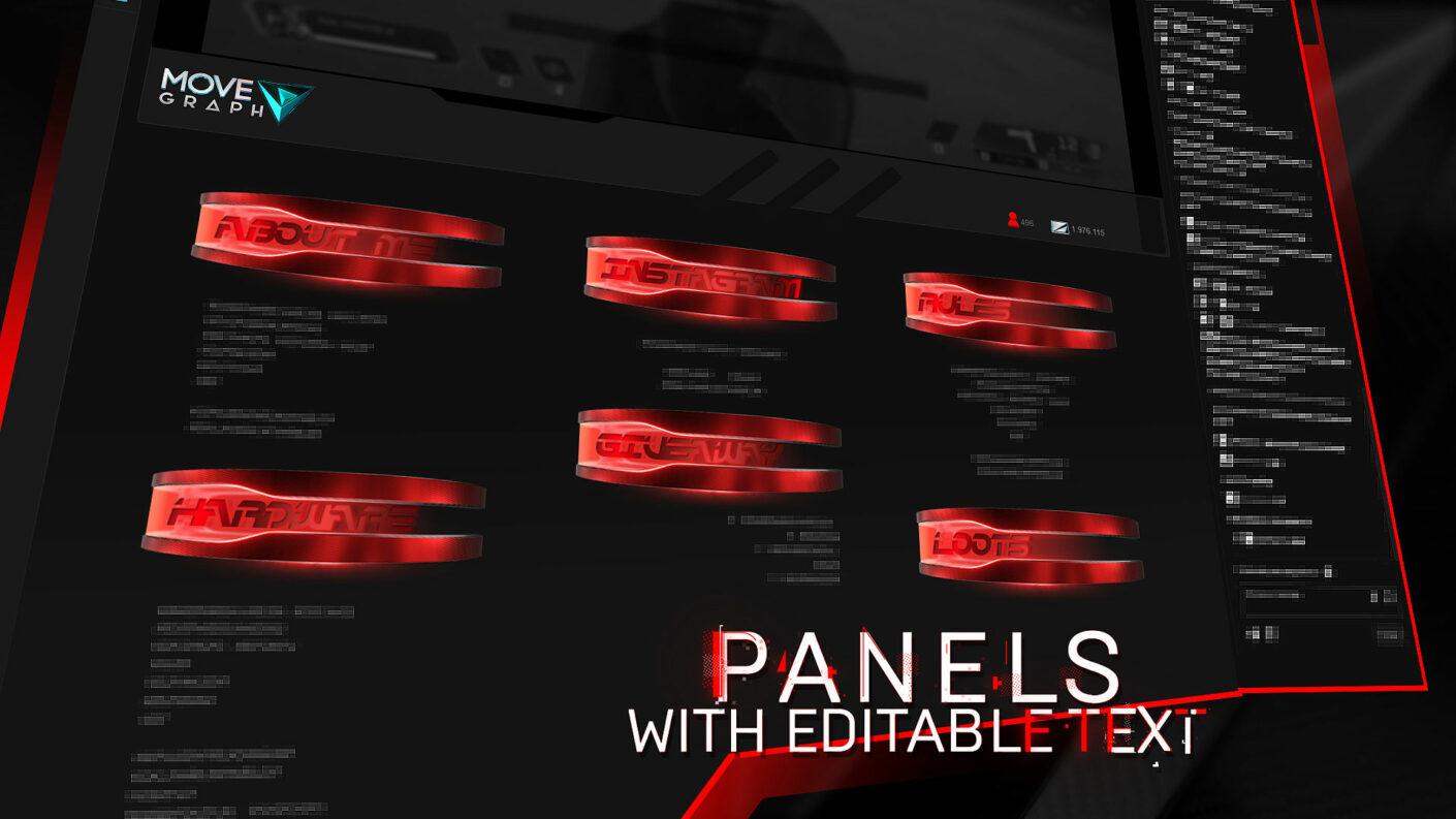 free twitch panels
