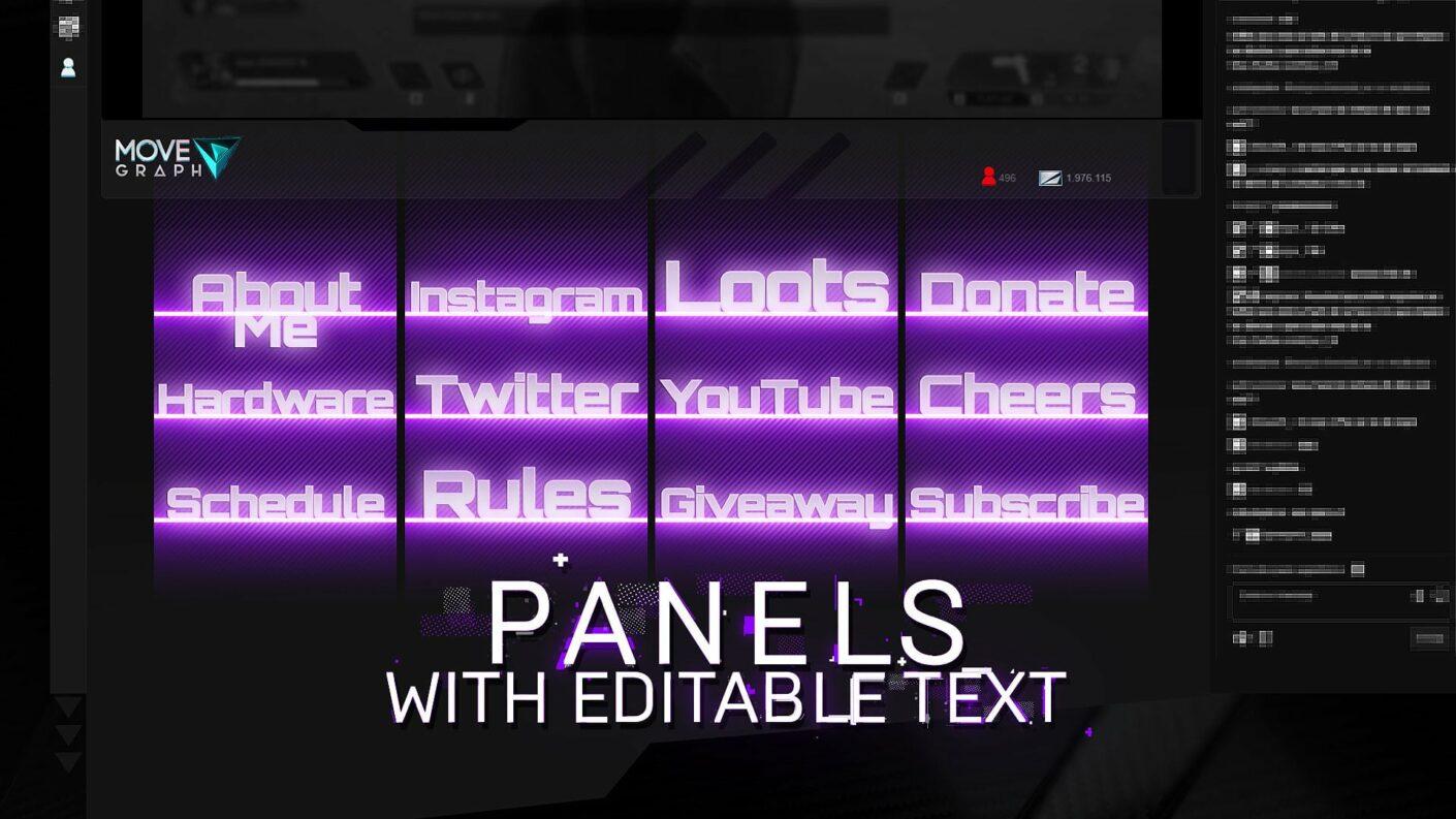 purple overlay twitch