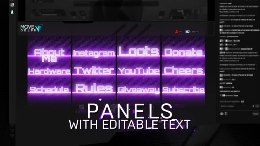 purple overlay twitch